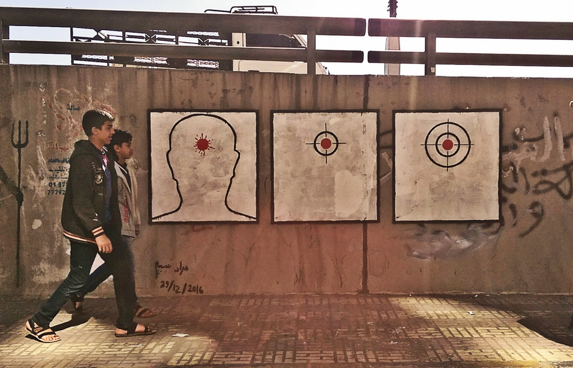 """""""Assassination's Eye"""" My mural.  about the assassinations in Yemen, the eleventh activity in Ruins Campaign."""