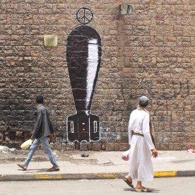 "My mural ""War Brand"", Ruins campaign, 14th May 2017."